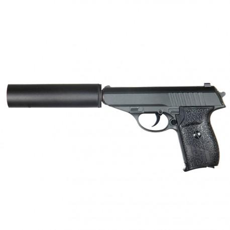 Makarov Pistole mit Schalldämpfer