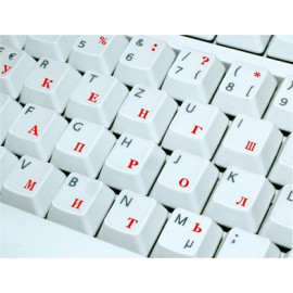 Russische Tastaturaufkleber für helle Klaviatur