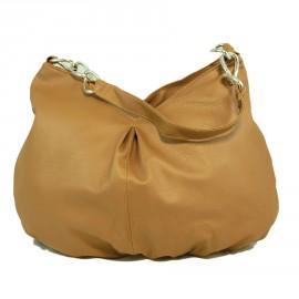 Элегантная бежевая сумка-ковш