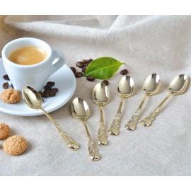 Espressolöffel, vergoldet