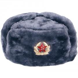 Russische Ohrenmütze mit Stern